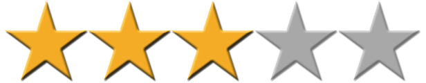 Film, Movie or TV Show Rating – online media reviews, 3 stars