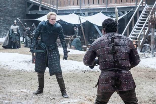 Brienne Of Tarth & Podrick Training at Winterfell
